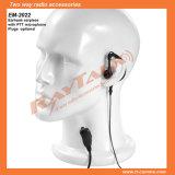 Radio bidirezionale Earhook Earpiece con Spingere-a-Talk & Microphone