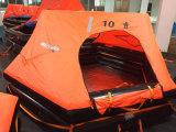 Radeau de sauvetage gonflable par dessus bord inchavirable de jet pour le yacht