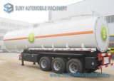 Cargo colorido Tratora Oil Tank Trailer 3 Axle com Gravity Discharge