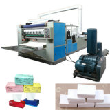 6 Lines Box-Drawing Máquina de confecção de papel de tecido facial Folding automática