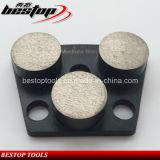 120 # 중간 본드 25X12mm 원 연마 세그먼트 콘크리트 연마 도구