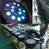 DMX RGB Auto 18X3W PAR Can LED plana Luz