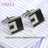 Mancuernas de plata cristalinas 332 de la camisa francesa de los hombres de la alta calidad VAGULA