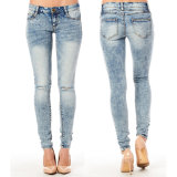 De Broeken van het Potlood van de vrouw rekken de Toevallige Jeans van de Broek van het Denim Magere uit