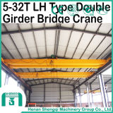 Capienza di modello 5t della gru a ponte della trave del LH doppia a 32t