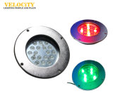 36W 옥외 24V IP68 RGB 스테인리스 LED 수중 조경 빛