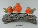 Ornamento feericamente da decoração do jardim do Signpost do pássaro da paisagem do Figurine diminuto