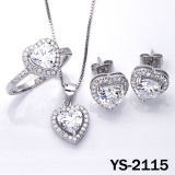 Juwelen 925 van de diamant Zilveren Micro bedekken Plaatsende Reeks Jewelrys