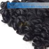 Cabelo preto brasileiro de jato, extensão do cabelo humano