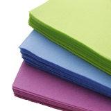Multi-Color пробитая иглой Nonwoven ткань чистки ткани