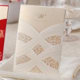 2015 رفاهية [ببر ودّينغ] دعمة بطاقات مع ليزر قطعة لؤلؤة أسلوب