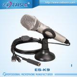 Microfono per Karaok domestico, corpo del USB dello studio del calcolatore di Ealsem del metallo