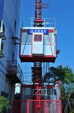 Alzamiento doble del edificio del inversor de las jaulas y 2 de la capacidad Sc200/200bzfrequency de la tonelada
