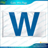 """w"" Flag Chicago Cubs Flag (J-NF05F09060) di 3X5FT Polyester Mbl Win Wrigley Field"
