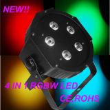 Iluminação plástica barata do DJ da carcaça de 5X10W RGBW