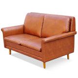 Europäisches Art-Ausgangsauslegung-Möbel-Leder-hölzernes Sofa