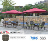 Зонтик роскошного напольного сада металла зонтика Sun патио консольного римский