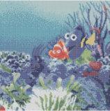 Мозаика славной картины цветка стеклянная в плитке картины искусствоа
