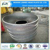 Protezione ellittica del acciaio al carbonio con i fori di perforazione dell'uomo