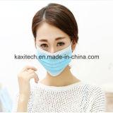 3 capas no tejidos desechables médicos de la mascarilla con gancho auricular