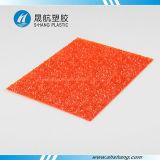 주황색 색깔에 의하여 돋을새김되는 폴리탄산염 다이아몬드 시트를 깔기