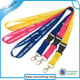 Lanières de collet tissées par trousseau de clés de souvenir de promotion avec la boucle en plastique