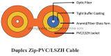 高品質の工場価格の屋内ファイバーの光ケーブルのZipcordの相互接続の光ケーブルGjfj8V