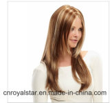 Neues Fashion Star Sweet und Lovely Long Straight Brown Synthetic Wig