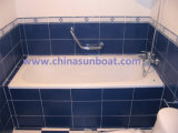 Bañera profundizada resbalón embutida sola bañera del esmalte de la bañera del arrabio de Sunboat