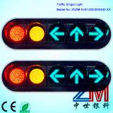 Semaforo del veicolo della radura LED/segnale stradale infiammanti piani con l'obiettivo convesso