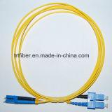 Cordon de connexion duplex uni-mode de fibre optique de LC/Upc-Sc/Upc