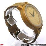 Reloj de bambú carbonizado de calidad superior Hl18 del cuarzo del reloj