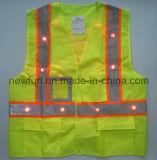 Reflektierende Sicherheits-Weste der hohen Sicht-En471 mit Scheinwerfer und Taschen