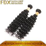 12-38 da onda profunda natural da cor da polegada cabelo humano brasileiro do Virgin