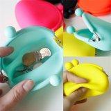 Bolso de las cosas del silicón del color del caramelo pequeño del mini de la moneda del bolso bolso portable del cambio