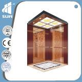 Velocità 1.5m/S Mirror Stainless Steel Cabin Passenger Elevator