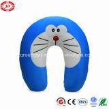 Doraemonの有名な子供の柔らかいLycraの綿プラシ天の詰められた首の枕