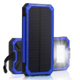 태양 전지 충전기, Hallomall 15000mAh 6LED 플래쉬 등을%s 가진 휴대용 전화 충전기, 지능적인 전화 C를 위한 이중 USB 운반 외부 배터리 충전기 태양 에너지 은행