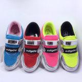 El nuevo acoplamiento 2016 de los zapatos ocasionales de la manera de las muchachas del diseño de Dogod Swquins calza los zapatos del deporte de los zapatos de los niños superiores de la PU