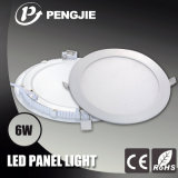 SMD2835 75lm Per Watt Flat 6W LED Panel Light