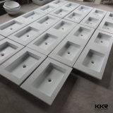 Bacino di superficie solido della stanza da bagno del Governo della resina della pietra del getto di Kingkonree