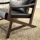 木製フレーム(LCS-005)が付いている一等級の革余暇の椅子