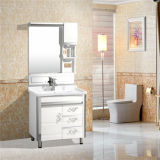 Шкаф ванной комнаты PVC и тазик мытья, сползая шкаф ванной комнаты