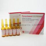Paracetamol-Guyenne Einspritzung für die schmerzlindernden und fiebervermindernden Medizin-Chemikalien 500mg/5ml
