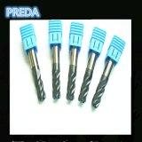 Las flautas sólidas de Cabride HRC55 4 arrinconan las máquinas de herramientas del radio