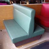 食堂のための革Wooden Sofa