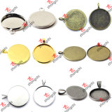 Wholesale Jewelry Finding Pendant Trays for Stone Necklace (P201)