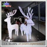 Свет рождества горячего света мотива северного оленя сбывания 3D акрилового напольный