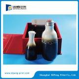 Impressão de caixa de embalagem com lábio e saco dobrável