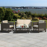 Mobília ao ar livre moderna do jardim do sofá do pátio do lazer do Rattan do PE